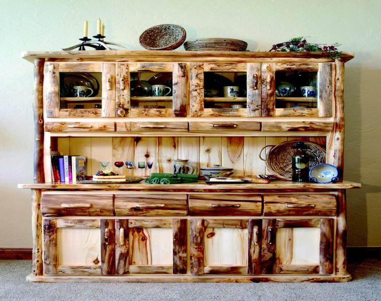 Muebles r sticos ideas de interiorismo con un aire campestre - Muebles de madera rusticos para cocina ...
