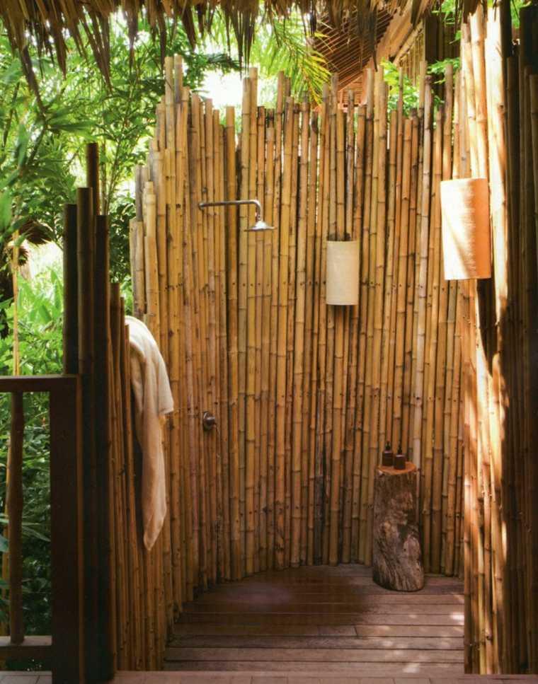ducha bambú