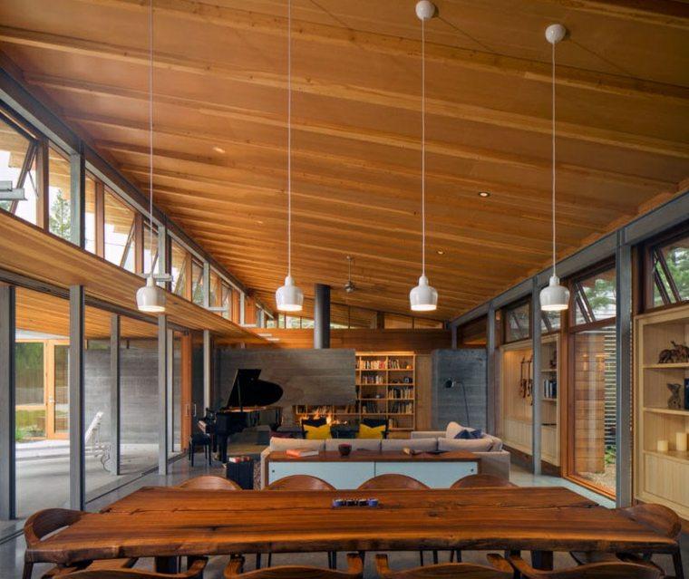 casa estilo colgantes-lamparas-blancas-circulares-salas