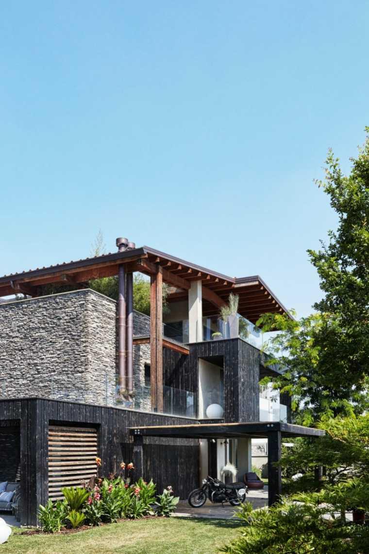 casas modernas diseño simple-rocas