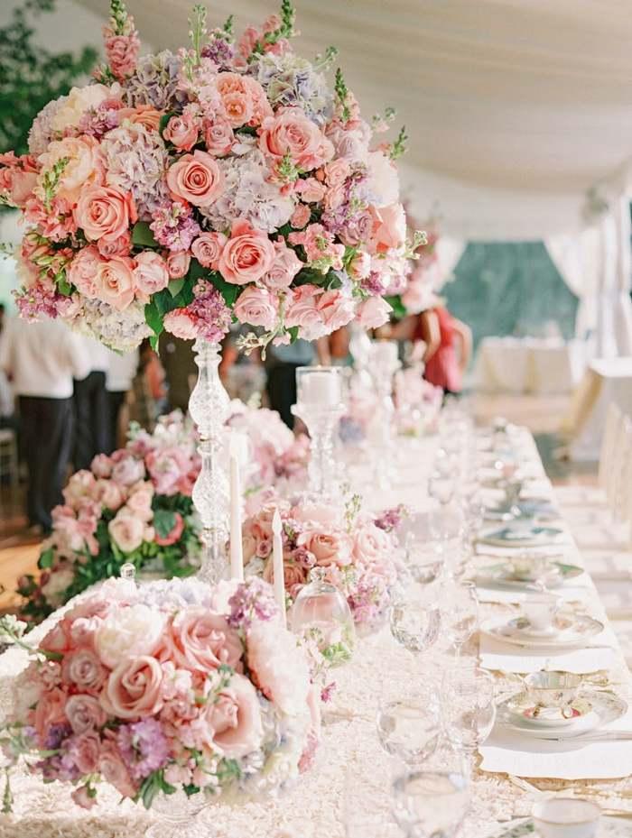 centros de mesa para boda-estilo-romantico-rosas-peonias