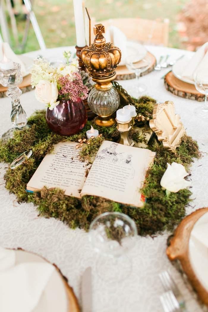 centros de mesa para boda-estilo-vintage-libro