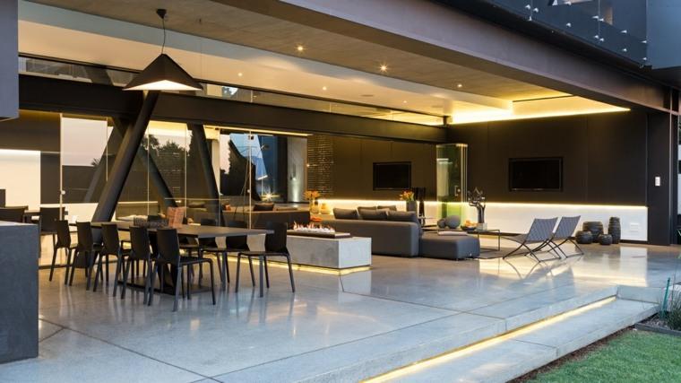 chimeneas de bioetanol-casas-amplias-modernas-estilo-moderno