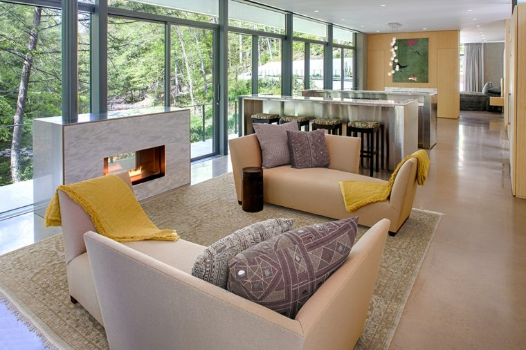 chimeneas de bioetanol-salon-cocina-espacio-abierto