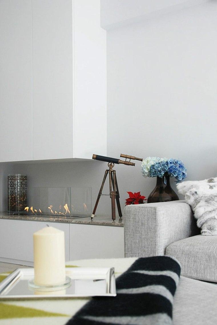 chimeneas de bioetanol-salon-paredes-blancas-muebles-color-gris