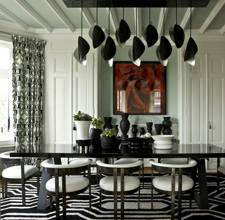 comedor-diseno-blanco-negro-habitaciones-lujosas