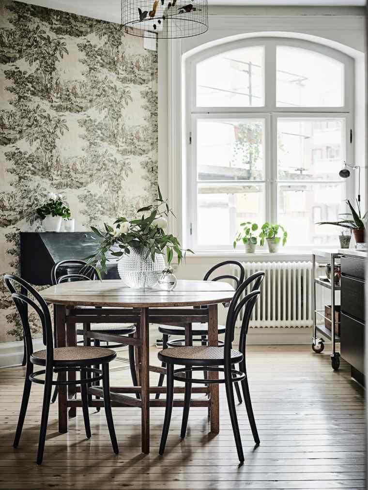 comedor-diseno-blanco-negro-papel-pared-bello