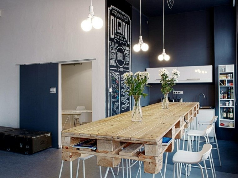 muebles de palet ideas comedores ideas basicas mesas-modernas