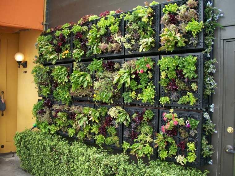 C mo hacer un jard n vertical ideas para exteriores e - Ideas para hacer un jardin ...