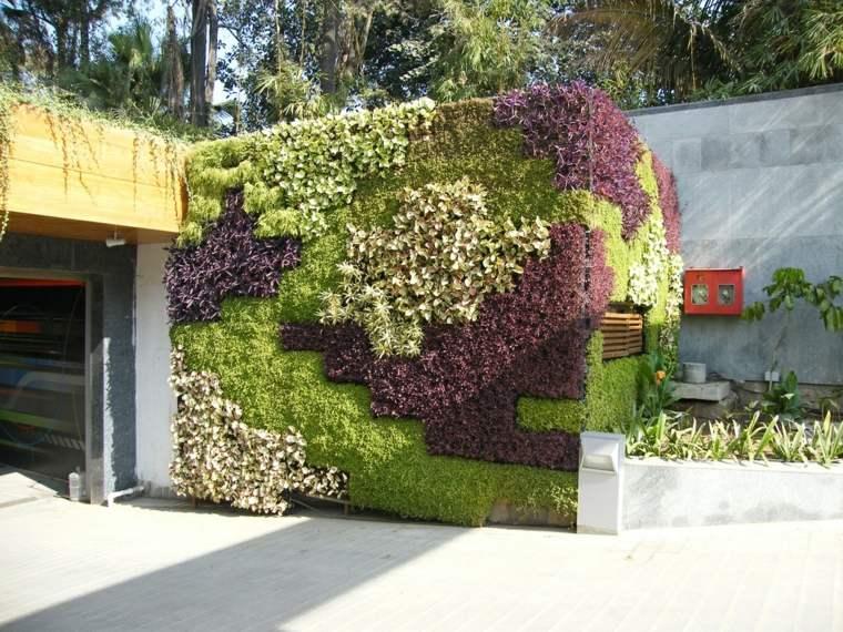 cómo hacer un jardín vertical-pared-entrada-casa