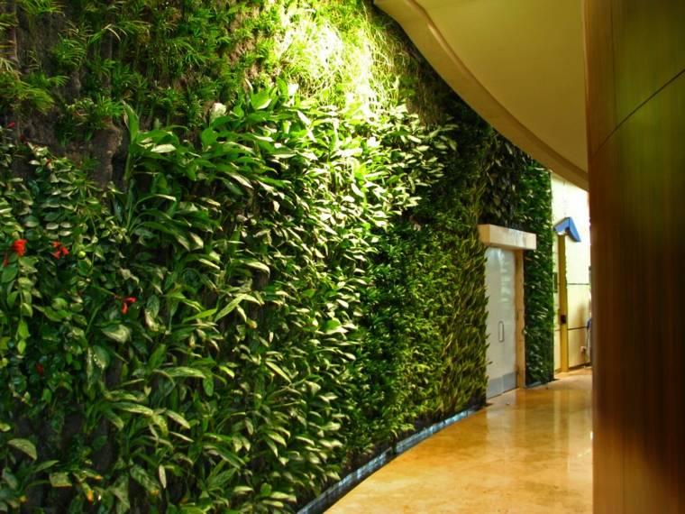 cómo hacer un jardín vertical-pasillo-pared