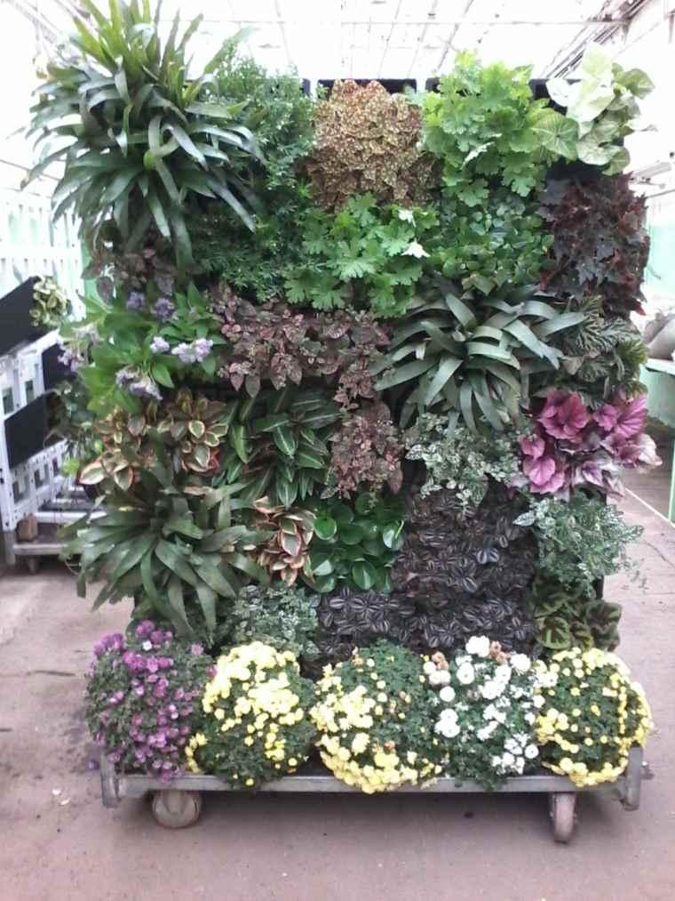 cómo hacer un jardín vertical-plantas-flores