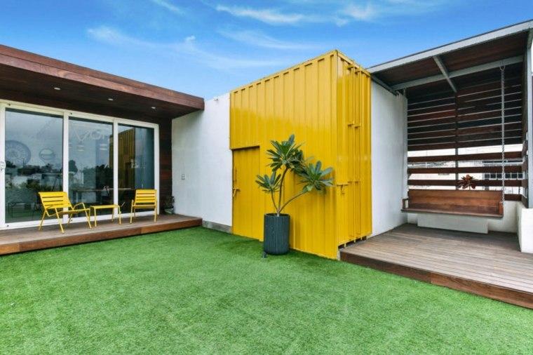 contenedores maritimos amarillo-acento-especial-modernos