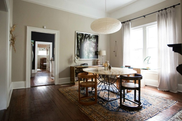 cuadros modernos-interiores-comedor-clasico-diseno-eclectico