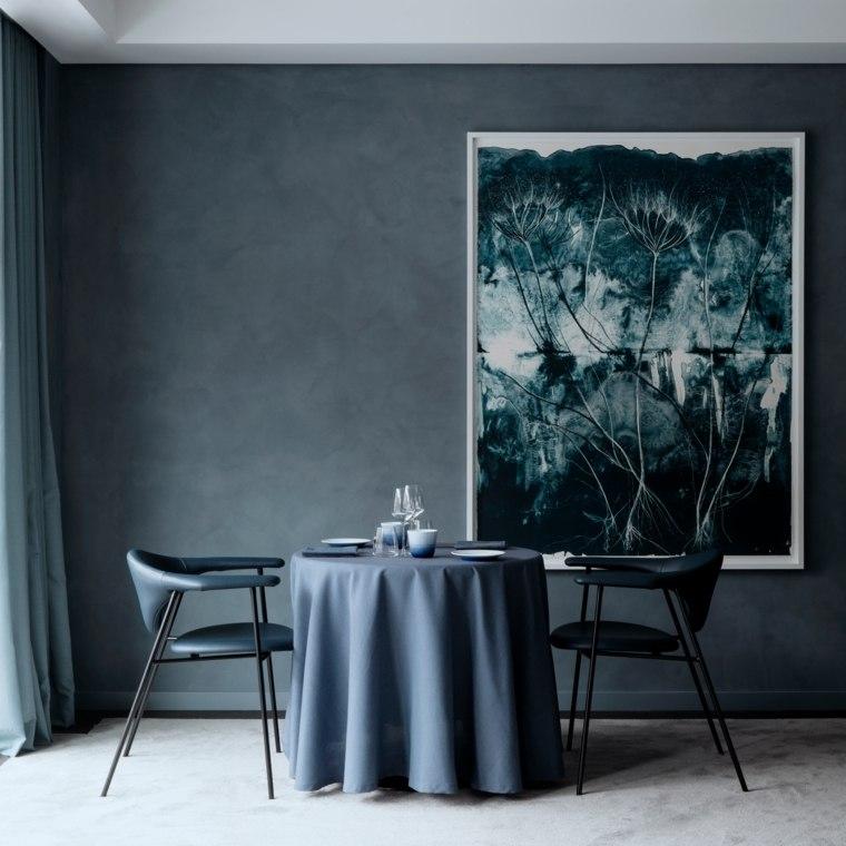 cuadros modernos-interiores-oscuros-paredes-negras