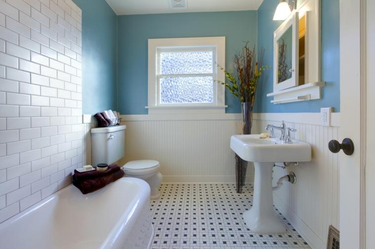 decoración de baños pequeños-banera-diseno-clasico
