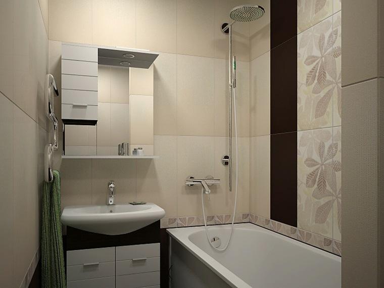 decoración de baños pequeños-banera-diseno-moderno