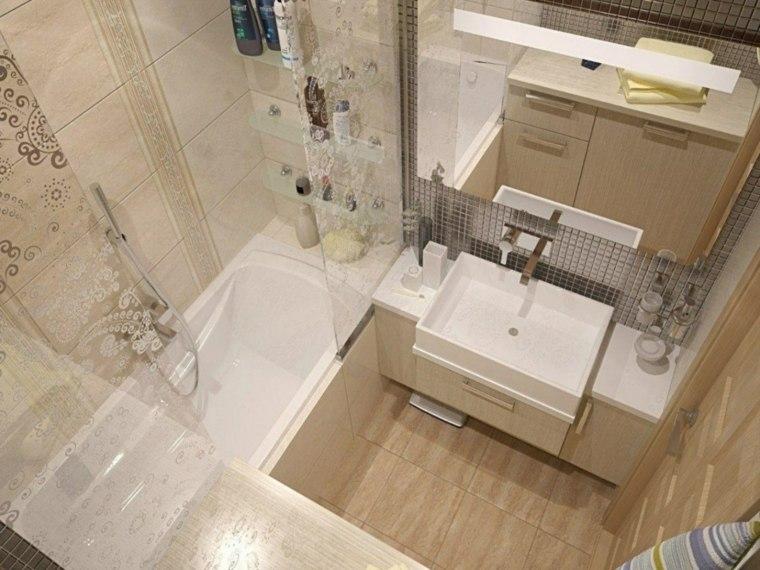 decoración de baños pequeños-losas-opciones-estilo