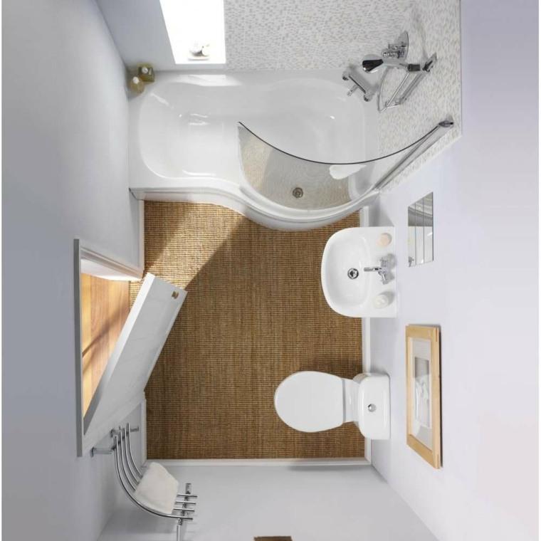 decoración de baños pequeños-muebles-blancos