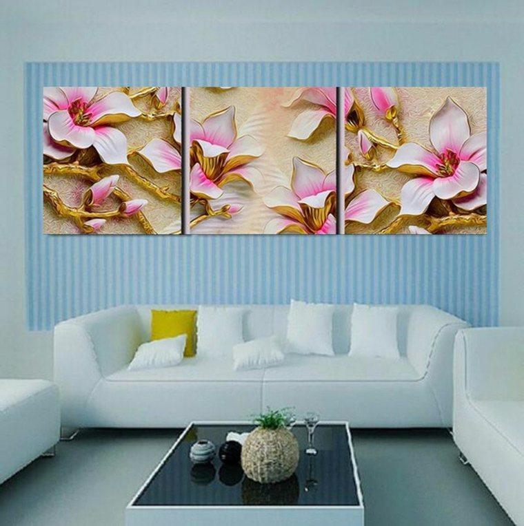 decoracion de paredes de salon moderno cuadros