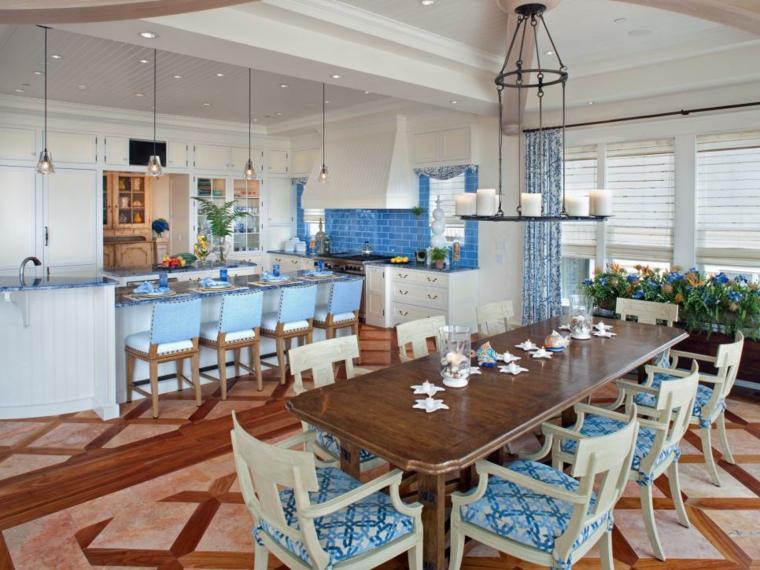 decoracion marinera cocinas-efectos-salas