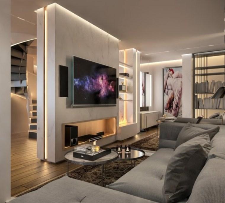 decoracion modernista en un apartamento muy elegante