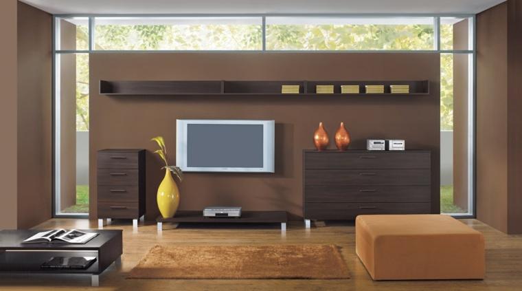 decoracion paredes salon moderno interior