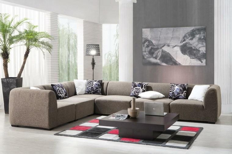 decoracion paredes salones modernos