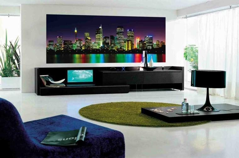 decorar paredes de salon moderno