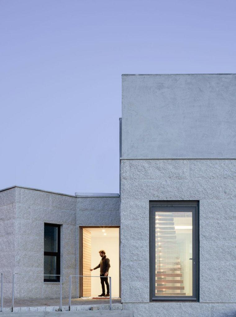 diseño minimalista lateral-vivienda-blanca