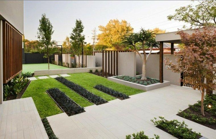 diseño de exteriores-jardines-pequenos-diseno-minimalista
