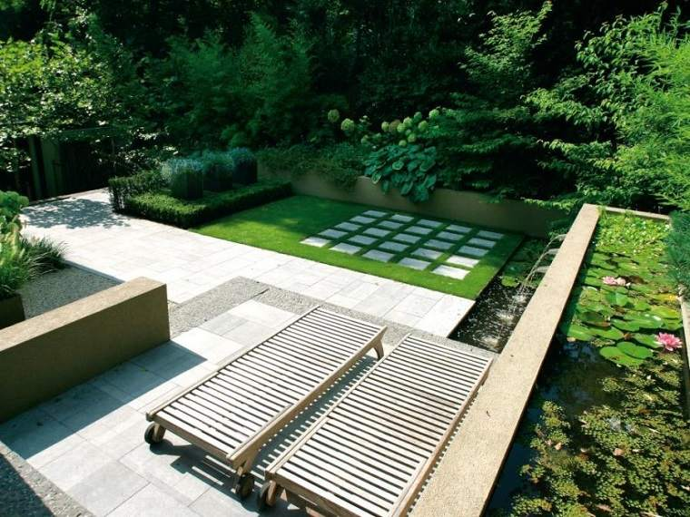diseño de exteriores-jardines-pequenos-diseno-moderno