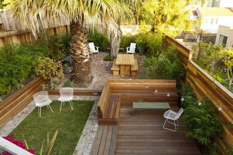 diseño de exteriores-jardines-pequenos-varias-zonas-relax