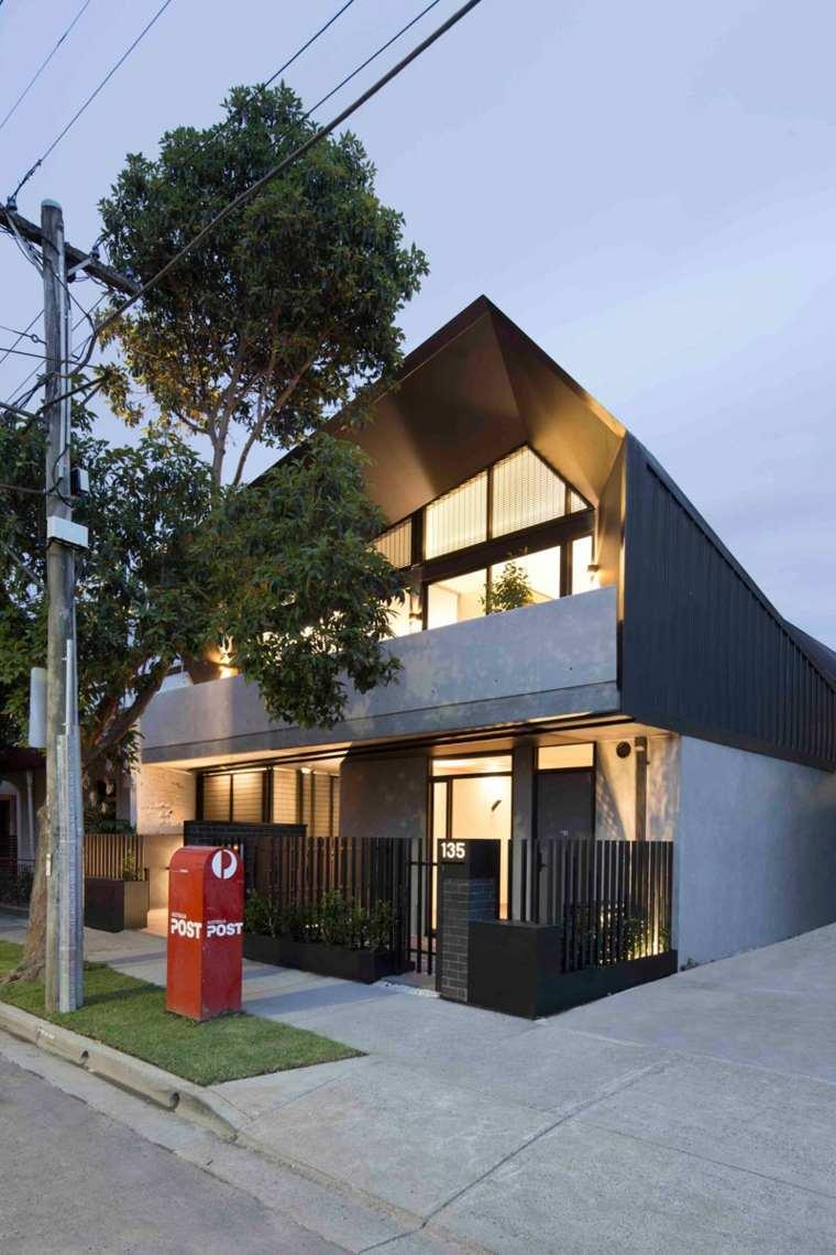diseno interior-seis-apartamentos-modernos-australia-entrada-calle-casa