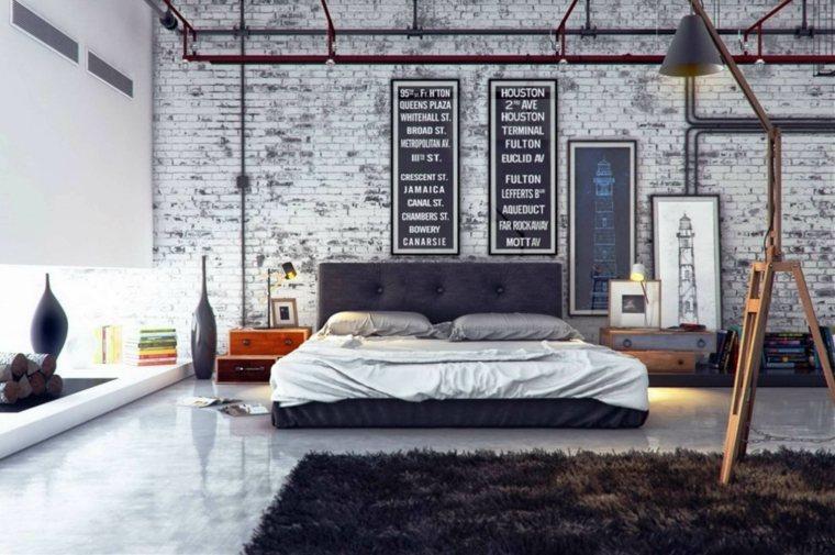 habitación pared ladrillo