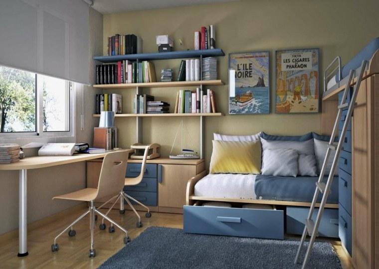 espacio-almacenamiento-bajo-cama-habitacion-ninos-estantes