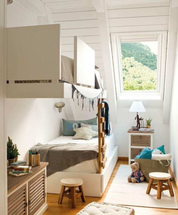 espacios-estrcho-dos-ninos-cama-flotante-estilo
