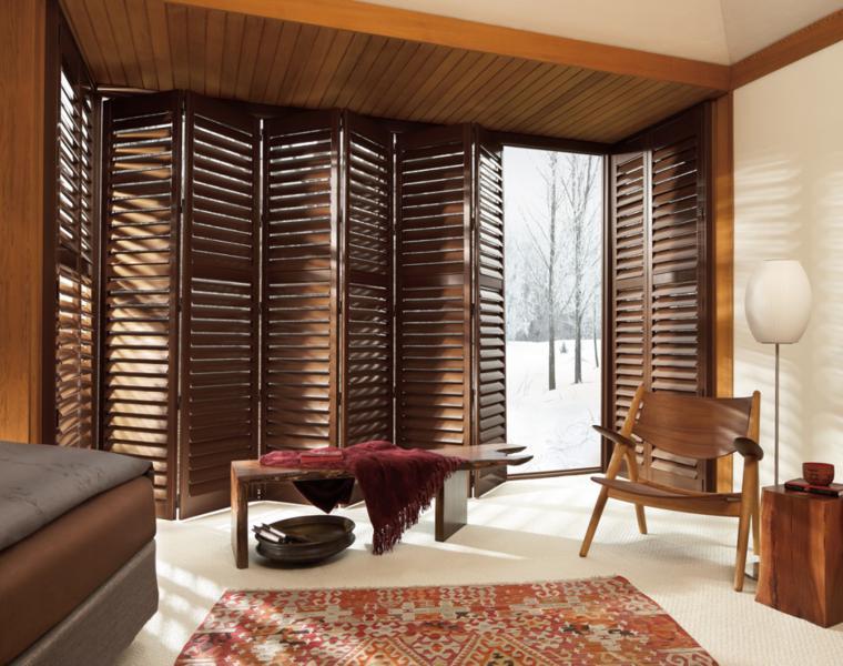 Persianas venecianas de madera interesantes soluciones for Venecianas de madera