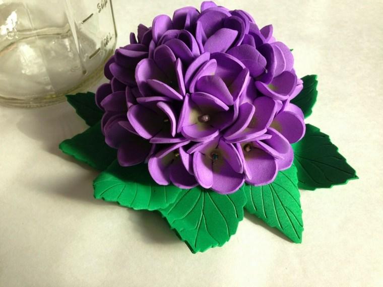 flores de goma eva metales-colores