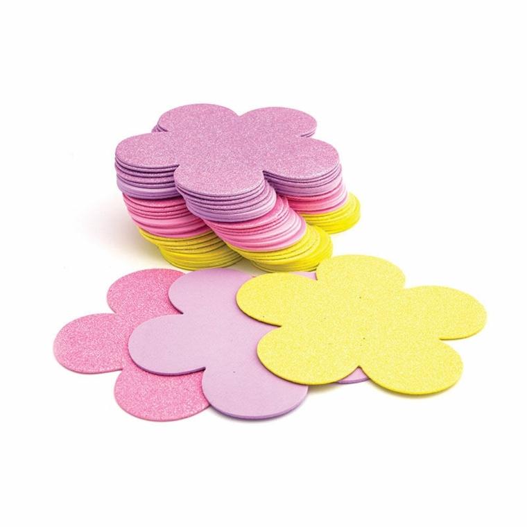 flores de goma eva sencillas-especiales