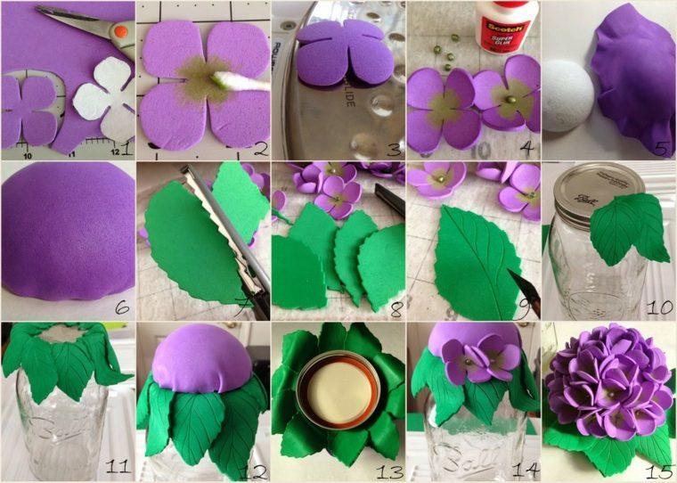 flores de goma eva simples-combinaciones