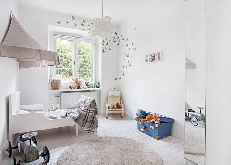 habitaciones infantiles pequeñas-color-blanco-decoracion-pared-estilo-moderno