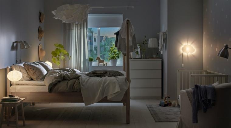 habitaciones infantiles pequeñas-muebles-madera-diseno-iluminacion