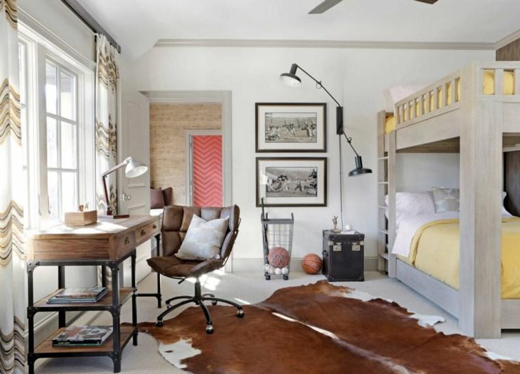 habitacion-ninos-alfombra-piel-estilo-industrial