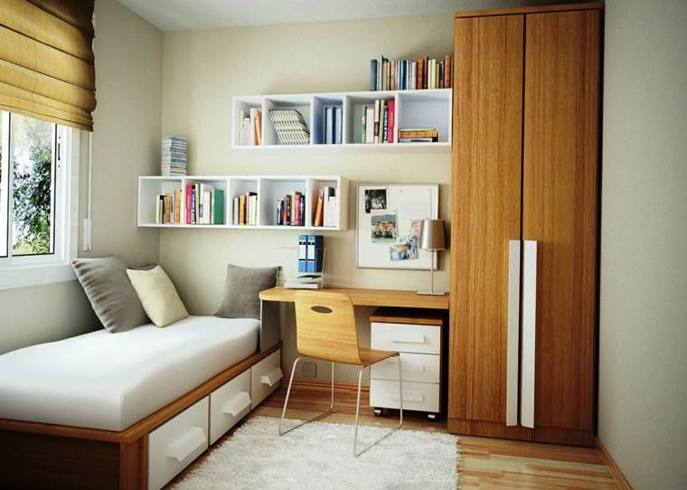 habitaciones infantiles pequeñas-diseno-muebles-estilo-moderno