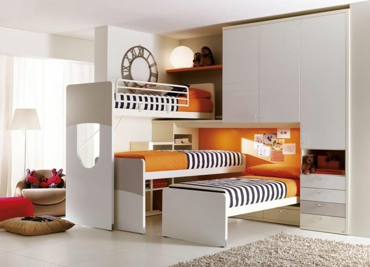 habitaciones infantiles para niña-nino-tres-camas
