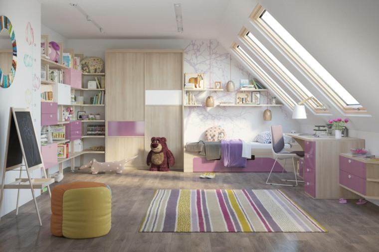 habitaciones infantiles para niñas-blanco-rosa-venta