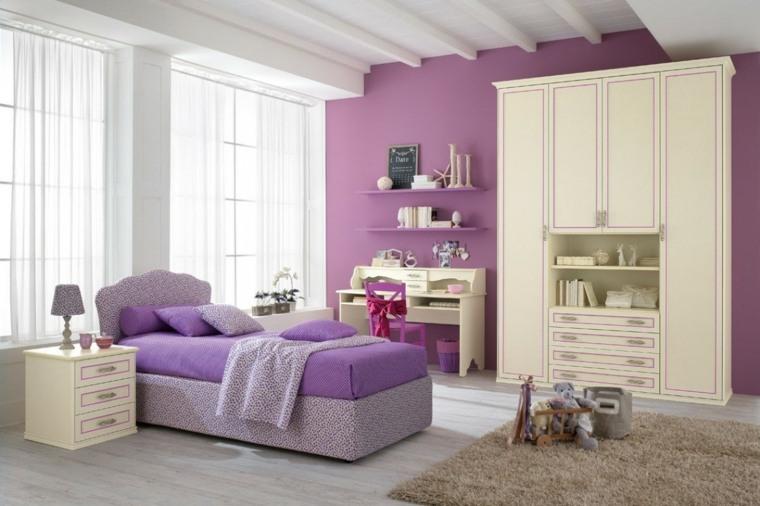 habitaciones infantiles para niñas-colores-claros-diseno-moderno