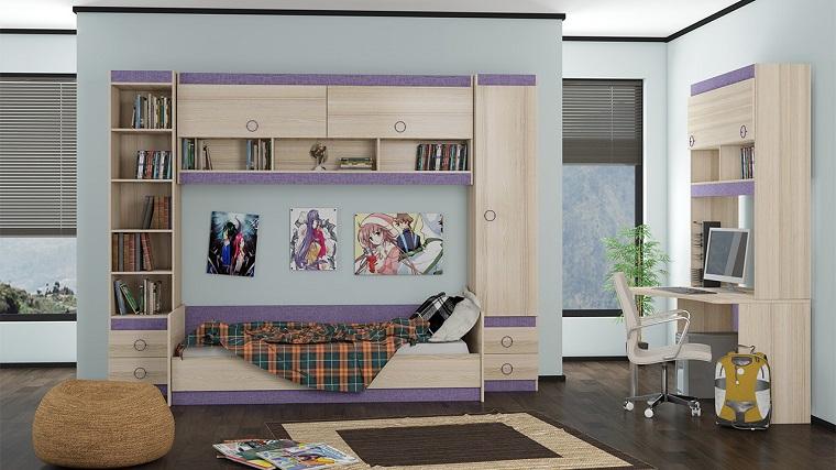 habitaciones infantiles para niñas-colores-claros-diseno