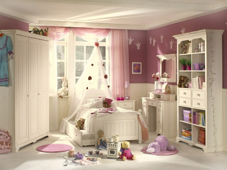 habitaciones infantiles para niñas-diseno-estilo-clasico